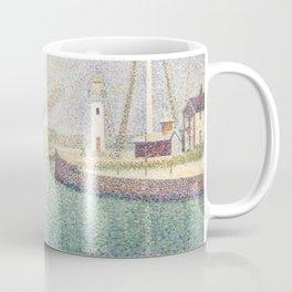 Georges Seurat - Entrance of The Port of Honfleur (Entree du port d'Honfleur) Coffee Mug