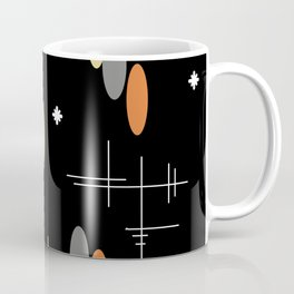Ovals and Starbursts Colorful 2 Coffee Mug