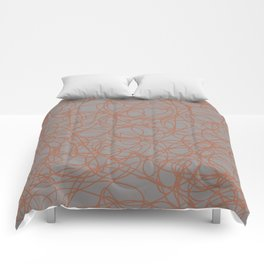 Cavern Clay SW 7701 Thick Hand Drawn Scribble Mosaic Pattern Slate Violet Gray SW9155 Comforters