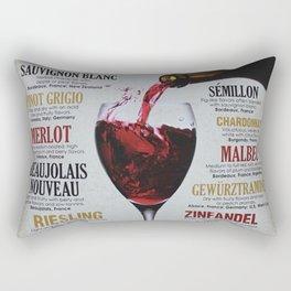 Vintage Wines from around the world Wine Advertisement Wall Art Rectangular Pillow