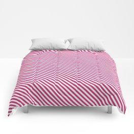 Pink Yarrow Stripe Comforters