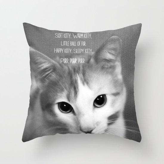 Soft Kitty Throw Pillow