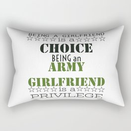 Army Girlfriend Rectangular Pillow