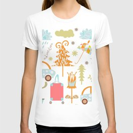 Travl patter 4b T-shirt