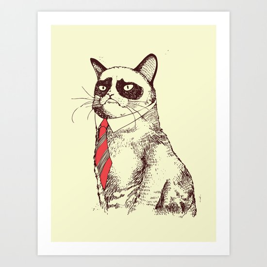 OH NO! Monday Again! Art Print