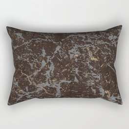 Crystallized gold stone texture Rectangular Pillow