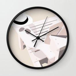 Monotoned beachday Wall Clock