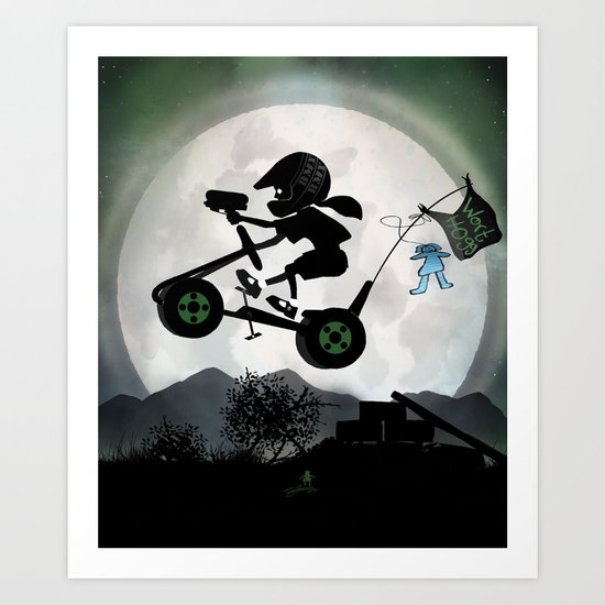 Halo Kid Art Print