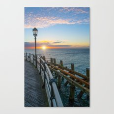 Sun Rise At Worthing Canvas Print