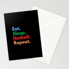 Eat. Sleep. Netball. Repeat. Stationery Cards