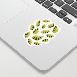 Pretty Clawed Green Leaf Pattern Sticker