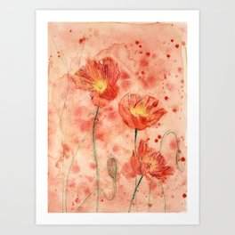 beauTEAful blooms: Poppies Art Print