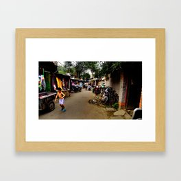 Lost in a Hutong Framed Art Print