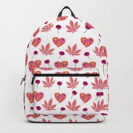 i Heart Pot Leaf Backpack