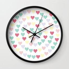 Hearts Spiral Wall Clock