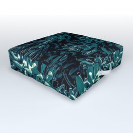 green succulent plant texture abstract background Outdoor Floor Cushion