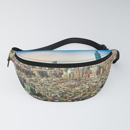 Aerial view and cityscape of Taipei, Taiwan Fanny Pack