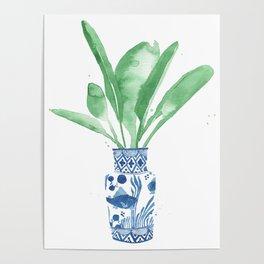Ginger Jar + Bird of Paradise Poster