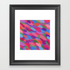 Rainbow Droplets Abstract Art Framed Art Print