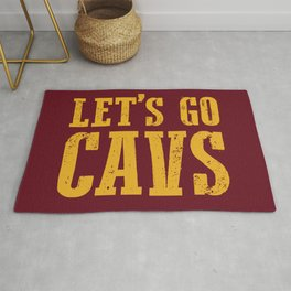 Let's Go CAVS NBA Design Rug
