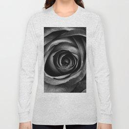 Black Rose Flower Floral Decorative Vintage Long Sleeve T-shirt