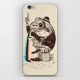 Strange Frog iPhone Skin