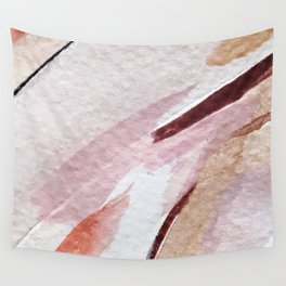 Away [2]: an abstract mixed media piece in pinks and reds Wall Tapestry