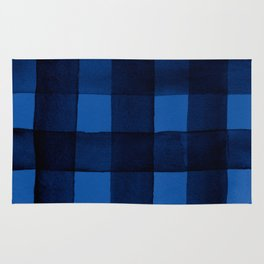 Buffalo Plaid Watercolor in Blue Rug
