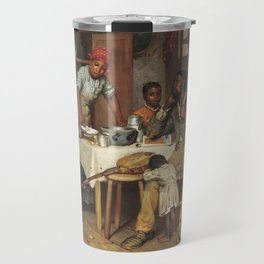 A Pastoral Visit, by Richard Norris Brooke, 1881, An African American family Travel Mug