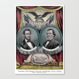 Abraham Lincoln and Andrew Johnson Election Banner 1864 Canvas Print