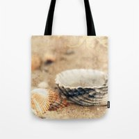 shells Tote Bags featuring Shells by Joanna Pechmann
