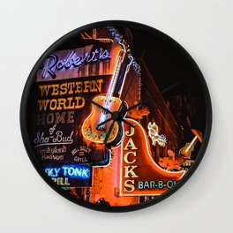 Christmas in Nashville Wall Clock