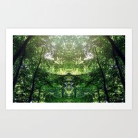 Mirror Forest Art Print