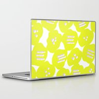 yellow pattern Laptop & iPad Skins featuring Yellow by MarikoSG