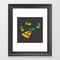 Pizza Lover Framed Art Print