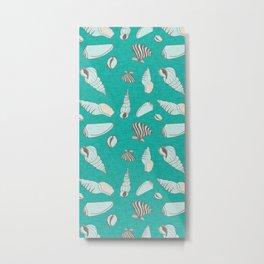 ocean sea shell aqua  Metal Print