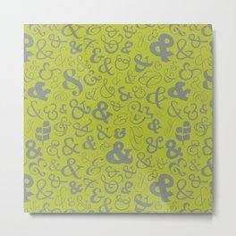 Ampersands - Green & Gray Metal Print