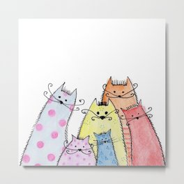a bunch of cats #1 Metal Print