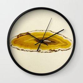 Agate - Yellow Slice Wall Clock