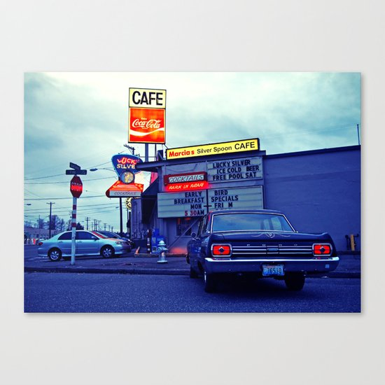 American cafe Canvas Print