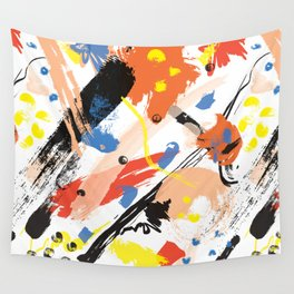 Abstract Floral Splash Wall Tapestry