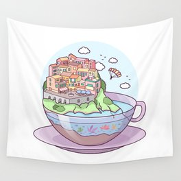 Tea Town Wall Tapestry