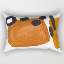 Mid Century Vintage 70's Design Abstract Minimalist Colorful Pop Art Rectangular Pillow