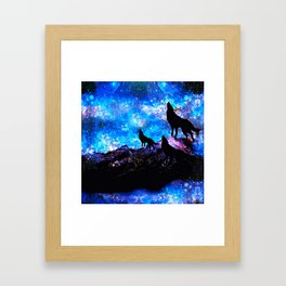 Wolf Trio Framed Art Print