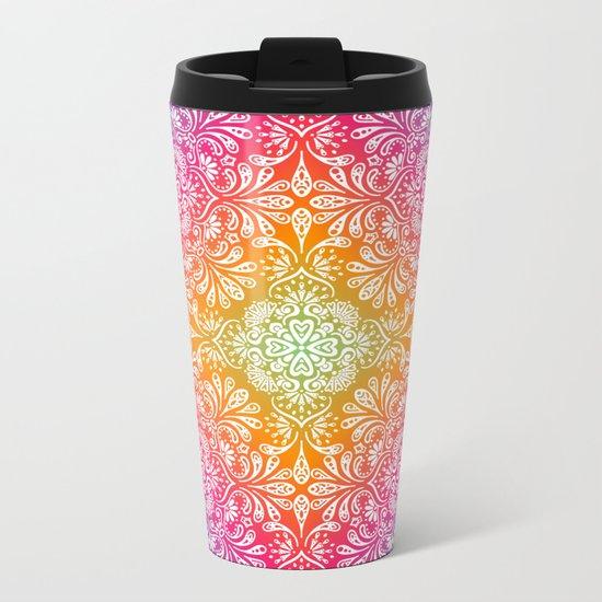 Spring Mandala Metal Travel Mug