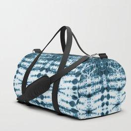 Teal Tribe Shibori Duffle Bag