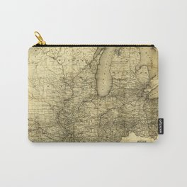 Map of the Midwest United States (c 1840) Carry-All Pouch