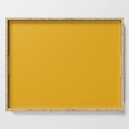 Solid Bright Bee Yellow Color Serving Tray