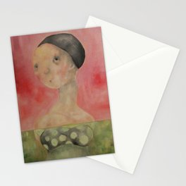 Pink Lady Swiming Stationery Cards