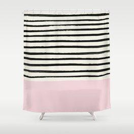 Bubblegum x Stripes Shower Curtain